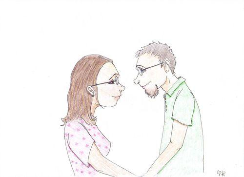 Tara and I in Technicolor
